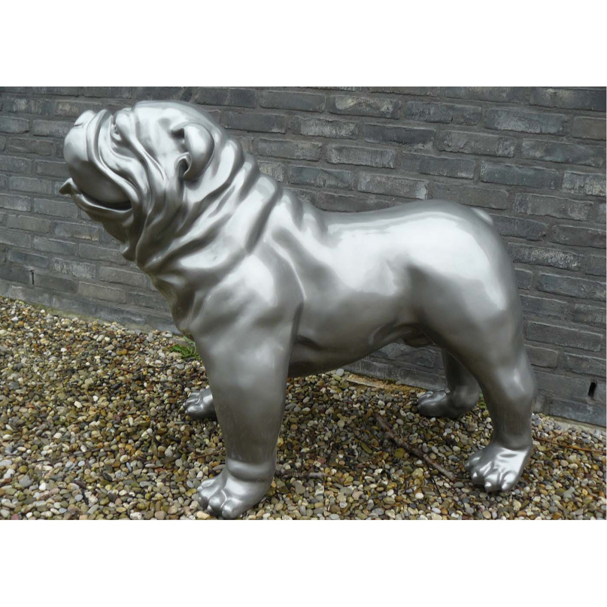 Statue bouledogue anglais ext rieur int rieur texartes - Decoration interieur anglais ...