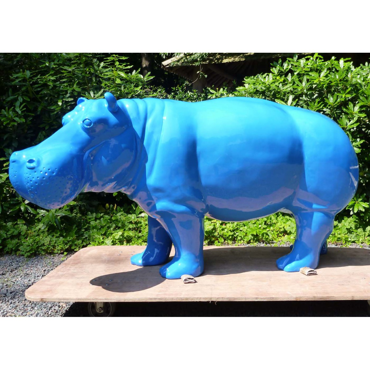 D co murale design troph e t te de bison texartes for Decoration jardin resine