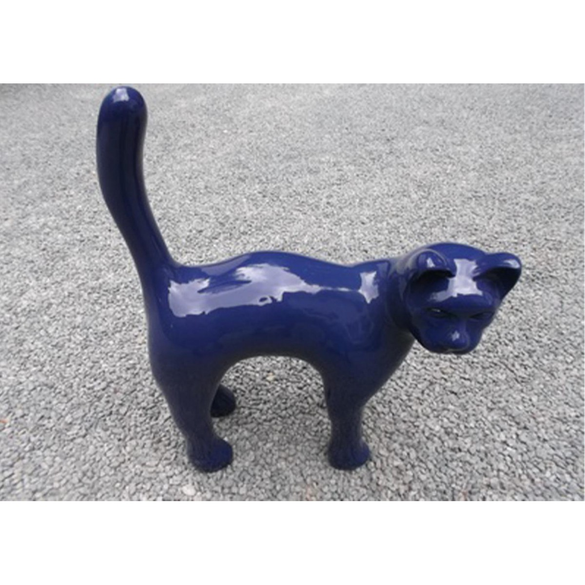 Objet d co d 39 ext rieur chat en r sine texartes for Resine deco