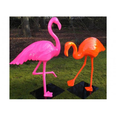 STATUE DECORATIVE FLAMAND ROSE COULEUR AU CHOIX TEXARTES