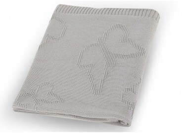 PLAID - COUVERTURE BEBE ENFANT PAPILLON BEIGE ROSE GRIS BLANC