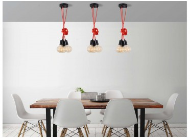 SUSPENSION CONTEMPORAINE ET ORIGINALE AVEC 3-5 OU 9 AMPOULES  SPIDER PAR FILAMENTSTYLE