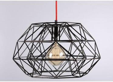 SUSPENSION METAL CONTEMPORAINE DIAMOND 7 NOIRE OR OU BRONZE PAR FILAMENTSTYLE