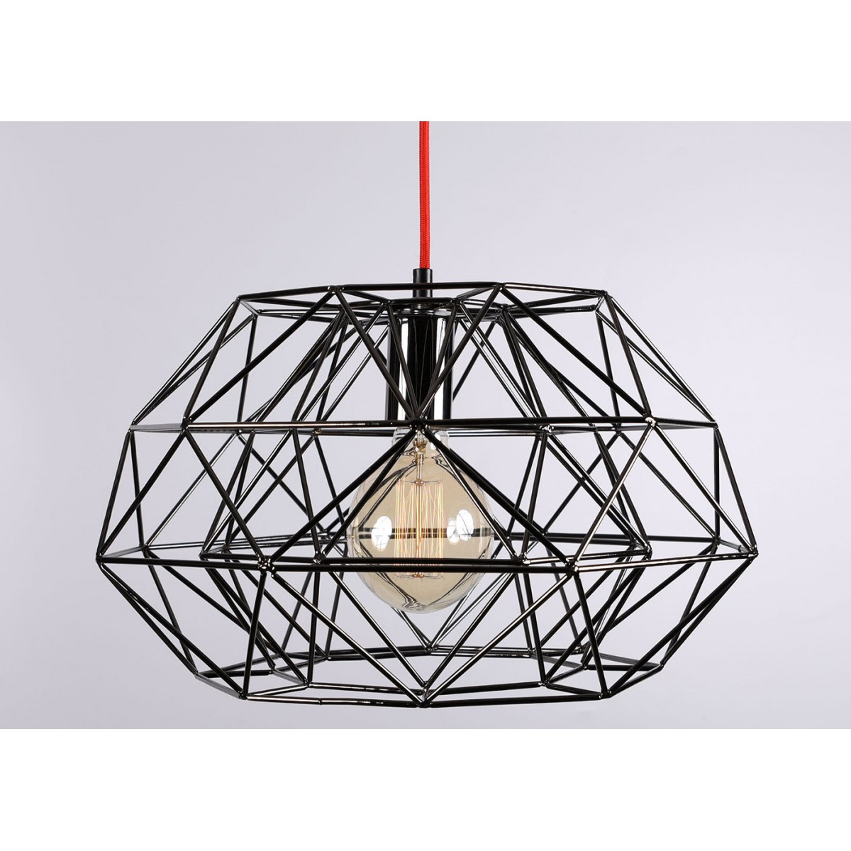 Suspension graphique en m tal dor bronze ou noire par for Suspension contemporaine