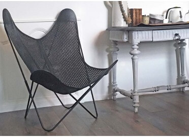 HOUSSE EN MACRAME BRODE GRAPHITE OPERA POUR FAUTEUIL AA AIRBORNE