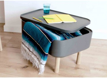 TABLE BASSE D'APPOINT GRISE HAT