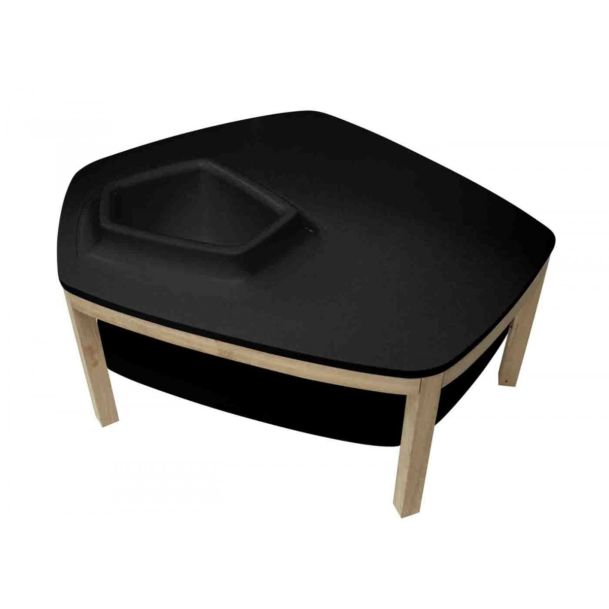 Table basse volcane pied original design avec vasque for Table basse 3 pieds
