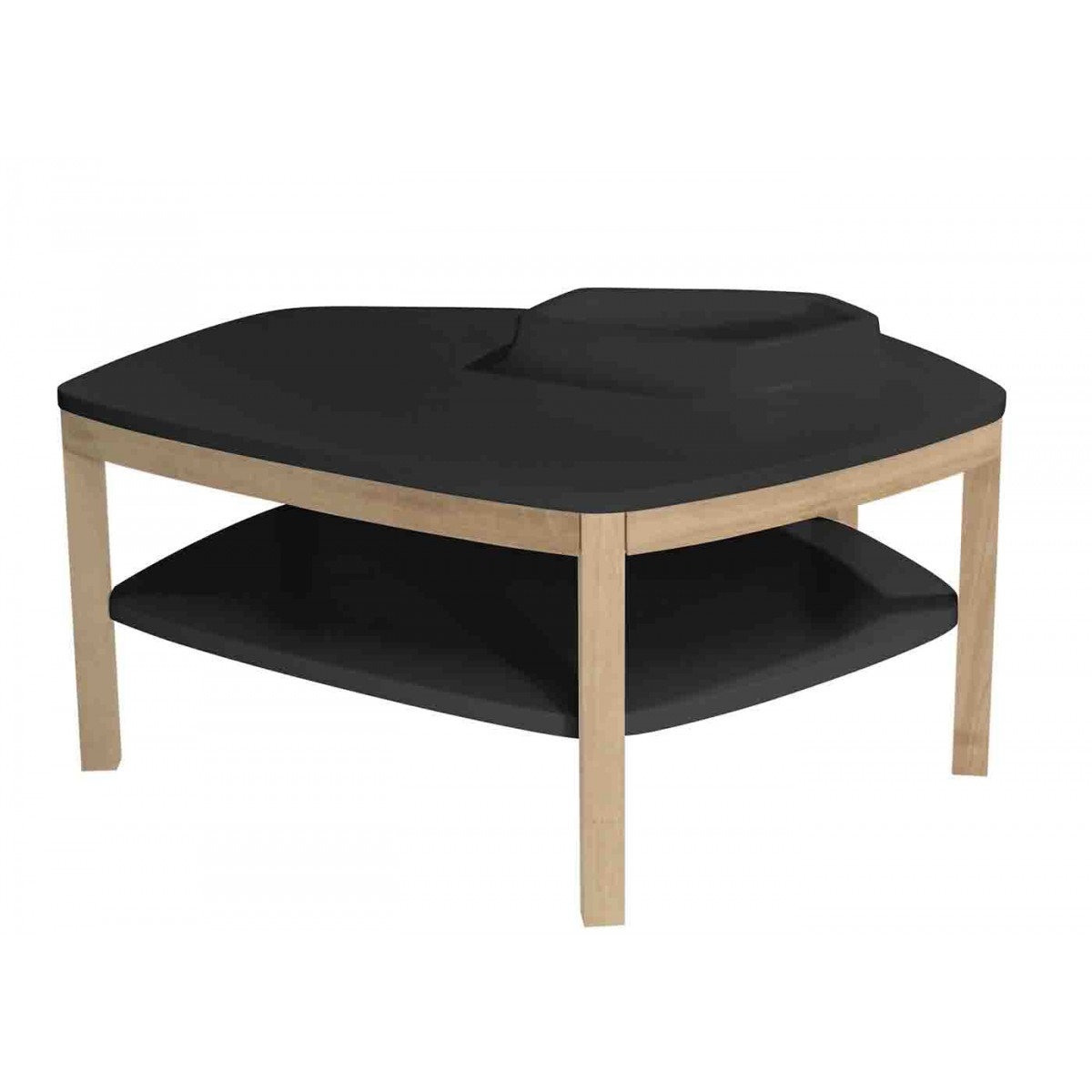 table basse volcane pied original design avec vasque. Black Bedroom Furniture Sets. Home Design Ideas