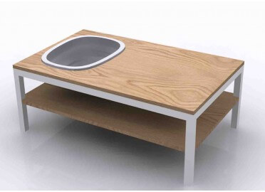 "TABLE BASSE ""LAGUNE BOIS"""
