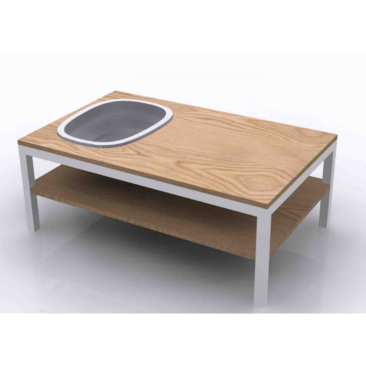Table Basse Bois Originale - Table basse originale en ch u00eane et gr u00e8s Lagune Bois par Bellila