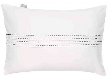 COUSSIN DECORATIF BLANC SURPIQURE SELLIER PIERROT