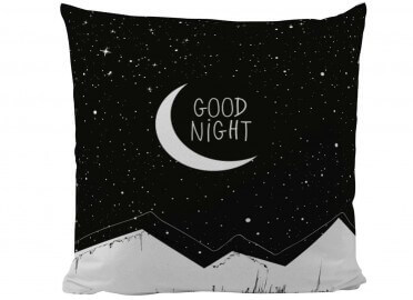 COUSSIN NOIR ET BLANC GOOD NIGHT PAR BUTTER KINGS