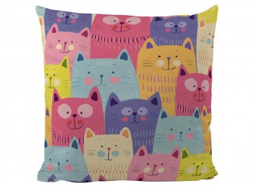 COUSSIN MULTICOLORE MOTIFS CHATS PAR BUTTER KINGS