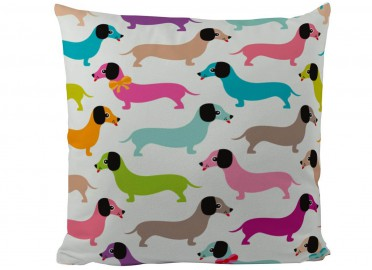COUSSIN ENFANT MOTIF TECKEL MULTICOLORE PAR BUTTER KINGS