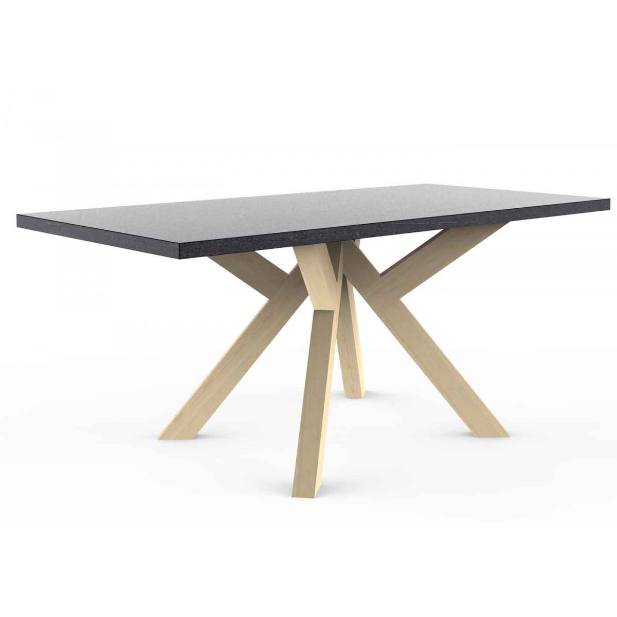 Pi tement design en bois massif pour table manger design for Pietement de table