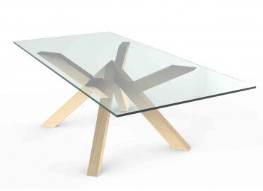 PIETEMENT DE TABLE DESIGN EN BOIS FRAMEWORK