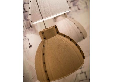 SUSPENSION EN PATE A PAPIER GRIS BLANC OU NATUREL YELLOWSTONE PAR GOOD&MOJO