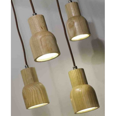 SUSPENSION ORIGINALE DESIGN SCANDINAVE EN BOIS DE CHENE KOBE - ITS ABOUT ROMY