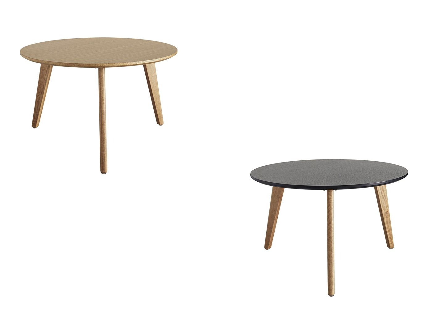 Table gigogne design scandi en ch ne chez ksl living for Table basse scandinave en chene
