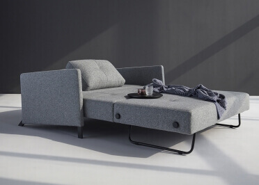 CANAPE CONVERTIBLE EN LIT 140x200 OU 160x200 GRIS BLEU SABLE OU NOIR CUBED 02 ARMS PAR INNOVATION LIVING