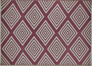 TAPIS D'EXTERIEUR DESIGN REVERSIBLE BORDEAUX OU GRIS LEGEND PAR GREEN DECORE