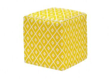 POUF CUBIQUE ORANGE JAUNE OU NOIR INTERIEUR EXTERIEUR ARABIAN PAR GREEN DECORE