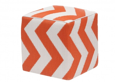 POUF EN PLASTIQUE RECYCLE INTERIEUR EXTERIEUR ORANGE OU GRIS PSYCHEDELIA PAR GREEN DECORE
