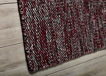 TAPIS ROUGE EN POLYESTER RECYCLE 150x90 POUR INTERIEUR OU EXTERIEUR DP15 PAR GREEN DECORE