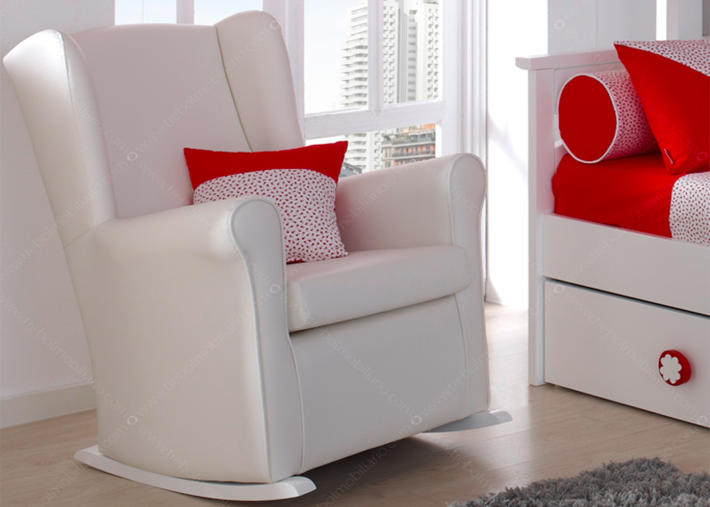 fauteuil pour chambre b b ou berg re d 39 allaitement ksl living. Black Bedroom Furniture Sets. Home Design Ideas