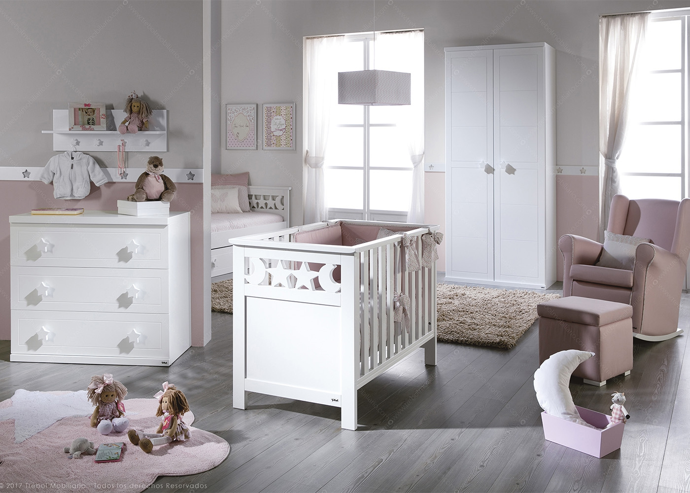 Chambre b b design et de qualit sign e trebol for Collection chambre bebe