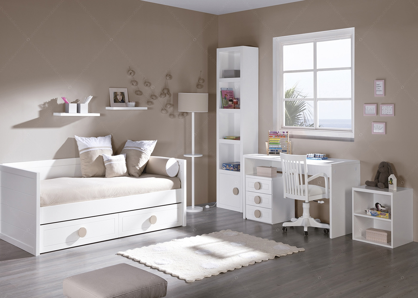 banquette chambre enfant maison design. Black Bedroom Furniture Sets. Home Design Ideas