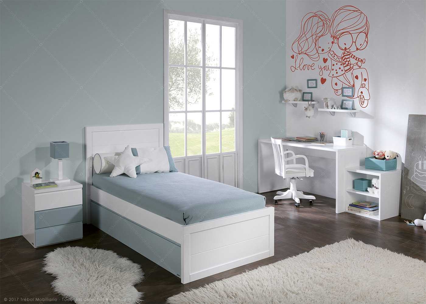 chambre fille ou gar on design et de qualit trebol chez ksl living. Black Bedroom Furniture Sets. Home Design Ideas