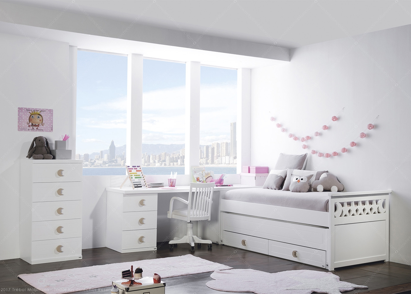 chambre junior design de haute qualit trebol chez ksl living. Black Bedroom Furniture Sets. Home Design Ideas