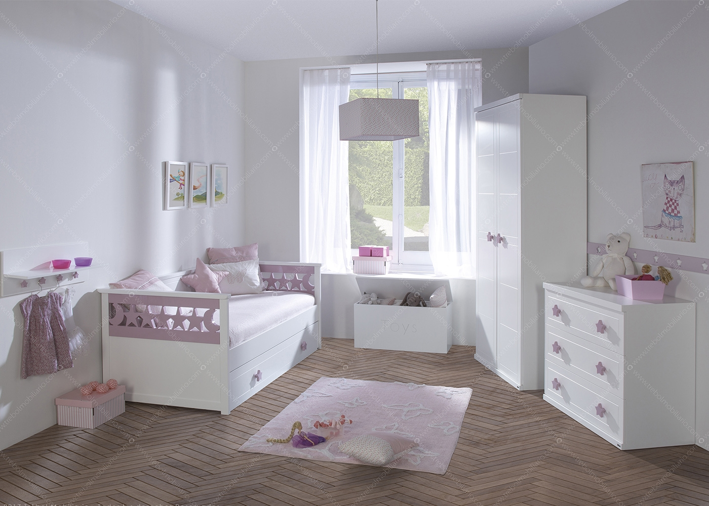 Chambre fille design chambre gar on ksl living for Chambre 9m2 lit double
