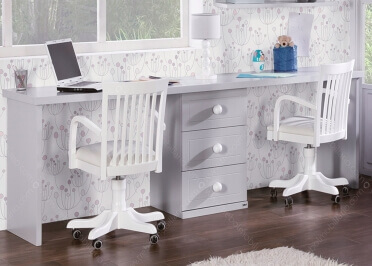 bureau complet pour enfants juniors avec divers rangements asoral. Black Bedroom Furniture Sets. Home Design Ideas