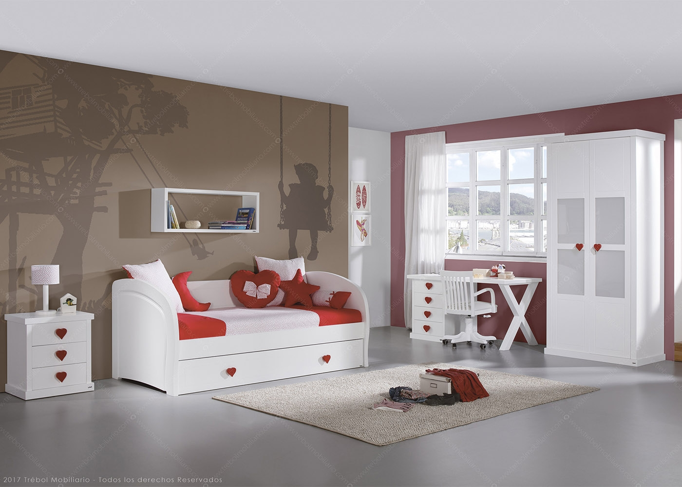 Chambre fille design et de qualit volutive chez ksl living - Etagere de lit ...