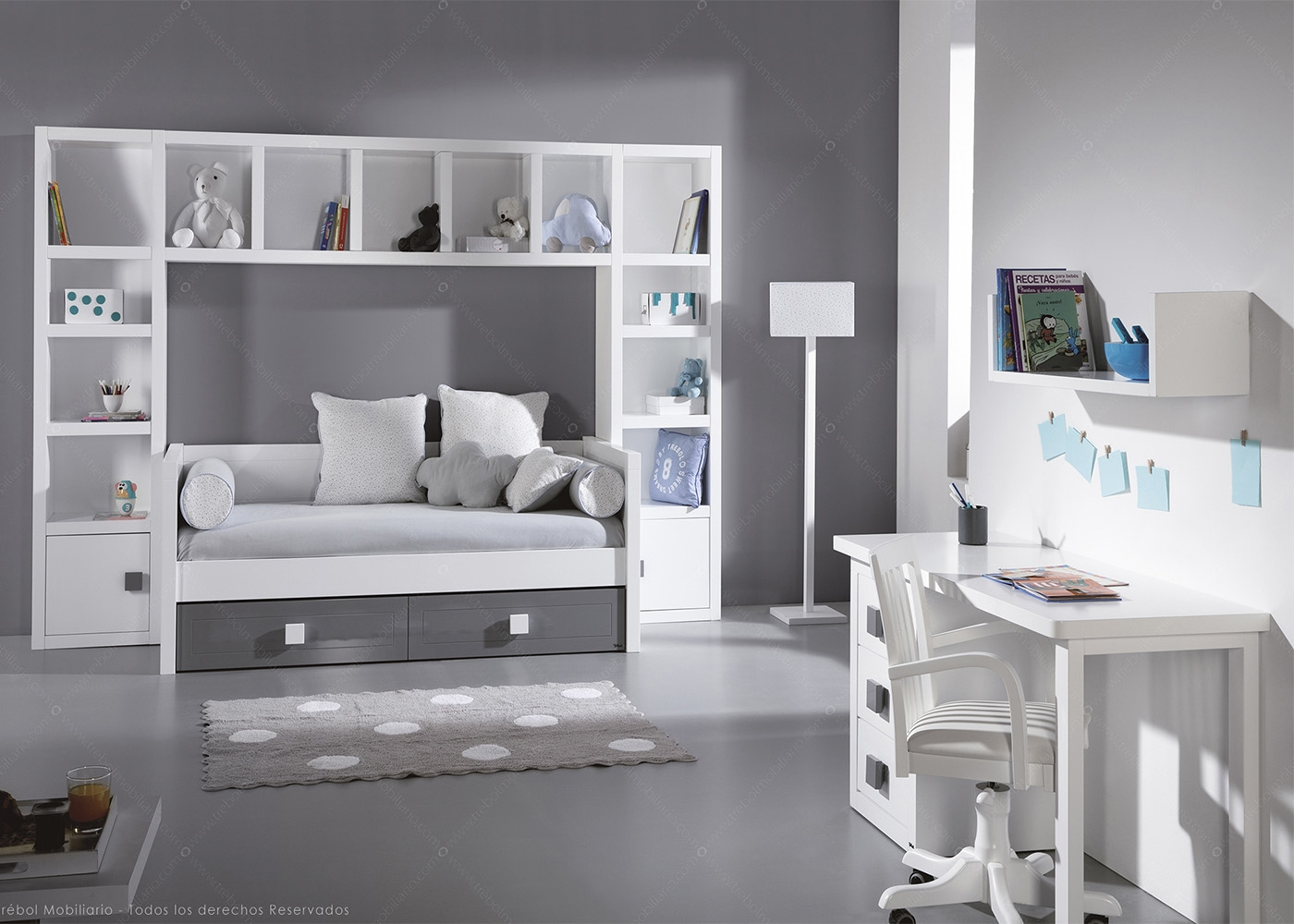 Am nagement chambre tudiant ou studio chez ksl living - Lit enfant 1 place ...