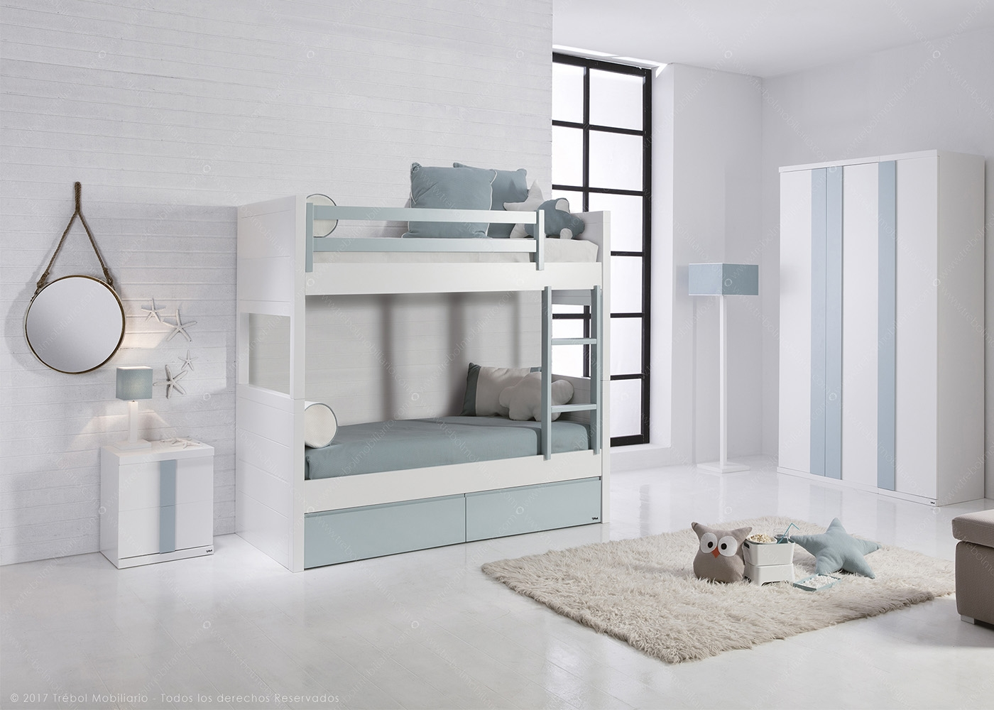 chambre 2 enfants au design moderne et de qualit chez ksl living. Black Bedroom Furniture Sets. Home Design Ideas