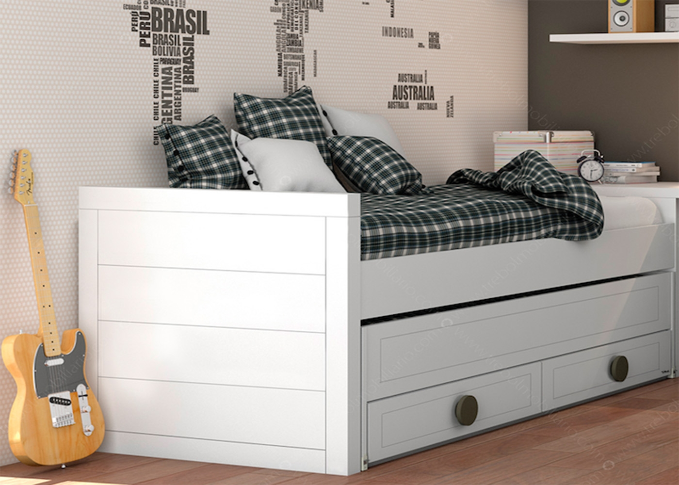lit superpos avec tiroir lit et 2 couchages de qualit chez ksl living. Black Bedroom Furniture Sets. Home Design Ideas