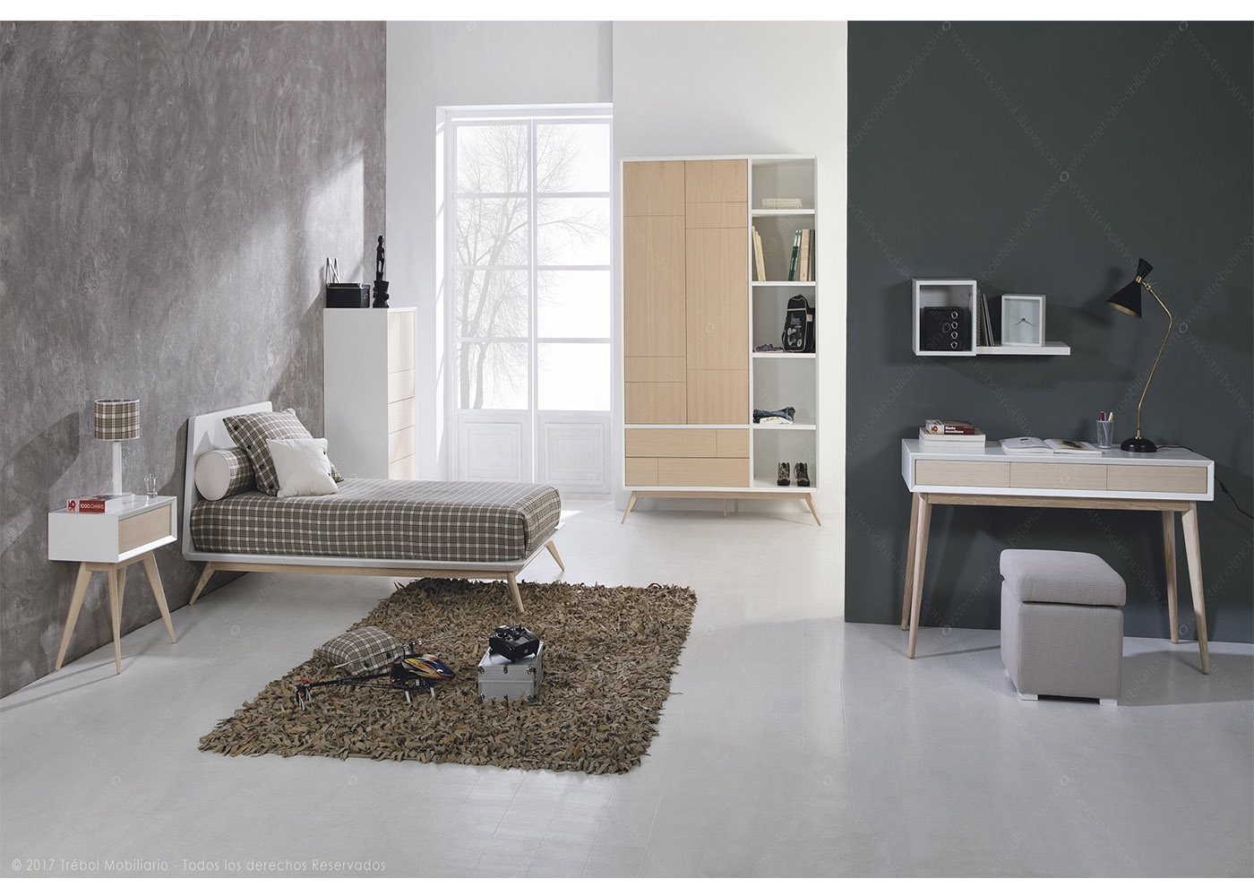 chambre ado au design scandinave haute qualit chez ksl living. Black Bedroom Furniture Sets. Home Design Ideas