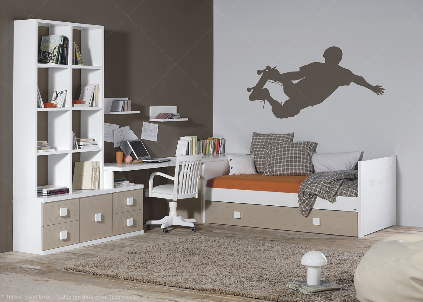 chambre quip e pour tudiant de haute qualit chez ksl living. Black Bedroom Furniture Sets. Home Design Ideas