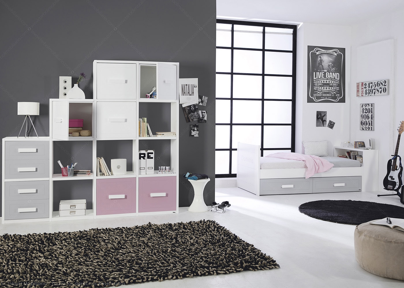 chambre tudiant adolescent quip e au design moderne chez ksl living. Black Bedroom Furniture Sets. Home Design Ideas