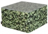 TABLE BASSE OU GRAND POUF CARRE EN POLYESTER ET MOUSSE SECHE AU DESIGN PELOUSE VERTE ORIGINAL COLLECTION HORNBEAM PAR MEROWINGS Merowings