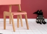TABOURET ENFANT DESIGN EN CHENE ET MDF BLANC ROSE OU VERT MENTHE - MY LITTLE PUPITRE PAR JUNGLE BY JUNGLE