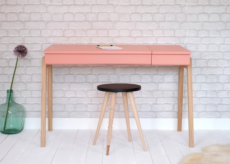 BUREAU DESIGN POUR JUNIOR ET ADO EN CHENE ET MDF BLANC ROSE OU VERT MENTHE - MY GREAT PUPITRE PAR JUNGLE BY JUNGLE