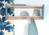 ETAGERE MURALE PORTEMANTEAU ENFANT DESIGN SCANDINAVE EN HETRE BLANC ROSE VERT OU BLEU - MY LITTLE BOUDOIR PAR JUNGLE BY JUNGLE