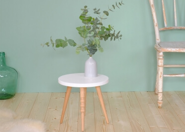 TABOURET ENFANT DESIGN Ø 30 CM EN HETRE OU NOYER BLANC ROSE VERT BLEU OU NOIR - MY LOVELY BALLERINE PAR JUNGLE BY JUNGLE