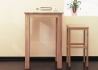 TABLE DE BAR - TABLE HAUTE OU MANGE DEBOUT EN CHENE MASSIF DESIGN MODERNE - 4 DIMENSIONS - CASA PAR JANKURTZ