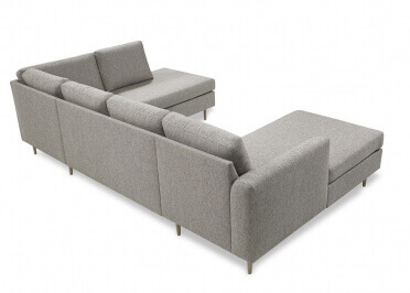 CANAPE D'ANGLE DESIGN ET CONFORTABLE FINITION MERIDIENNE - MATIERES ET COLORIS VARIES - VIDA PAR KRAGELUND