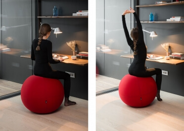 POUF BALLON ORIGINAL ET CONFORTABLE - POLYESTER 36 COULEURS - DEHOUSSABLE ET LAVABLE - BALL SINGLE PAR LINA FURNITURE
